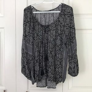 American Eagle Peasant Top Blouse